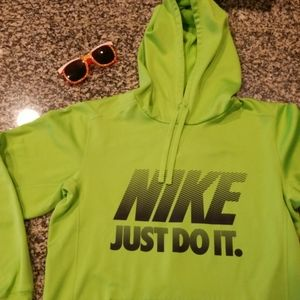 Nike Bright Green soft Hoodie size small